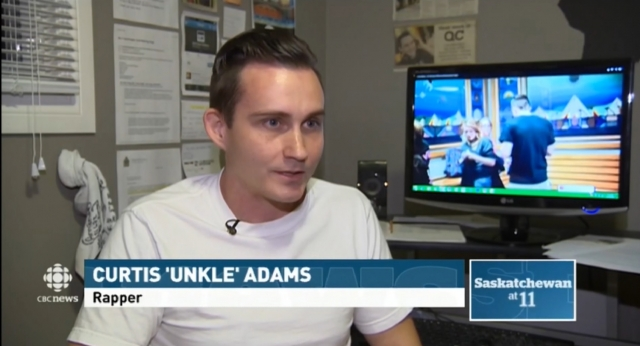 Unkle Adams on CBC News Saskatchewan