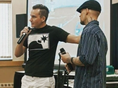 Unkle Adams and JC Wylde Speaking to Youth